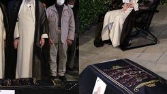 اقامه نماز رهبر انقلاب بر پیکر مرحوم حسنزاده آملی +عکس