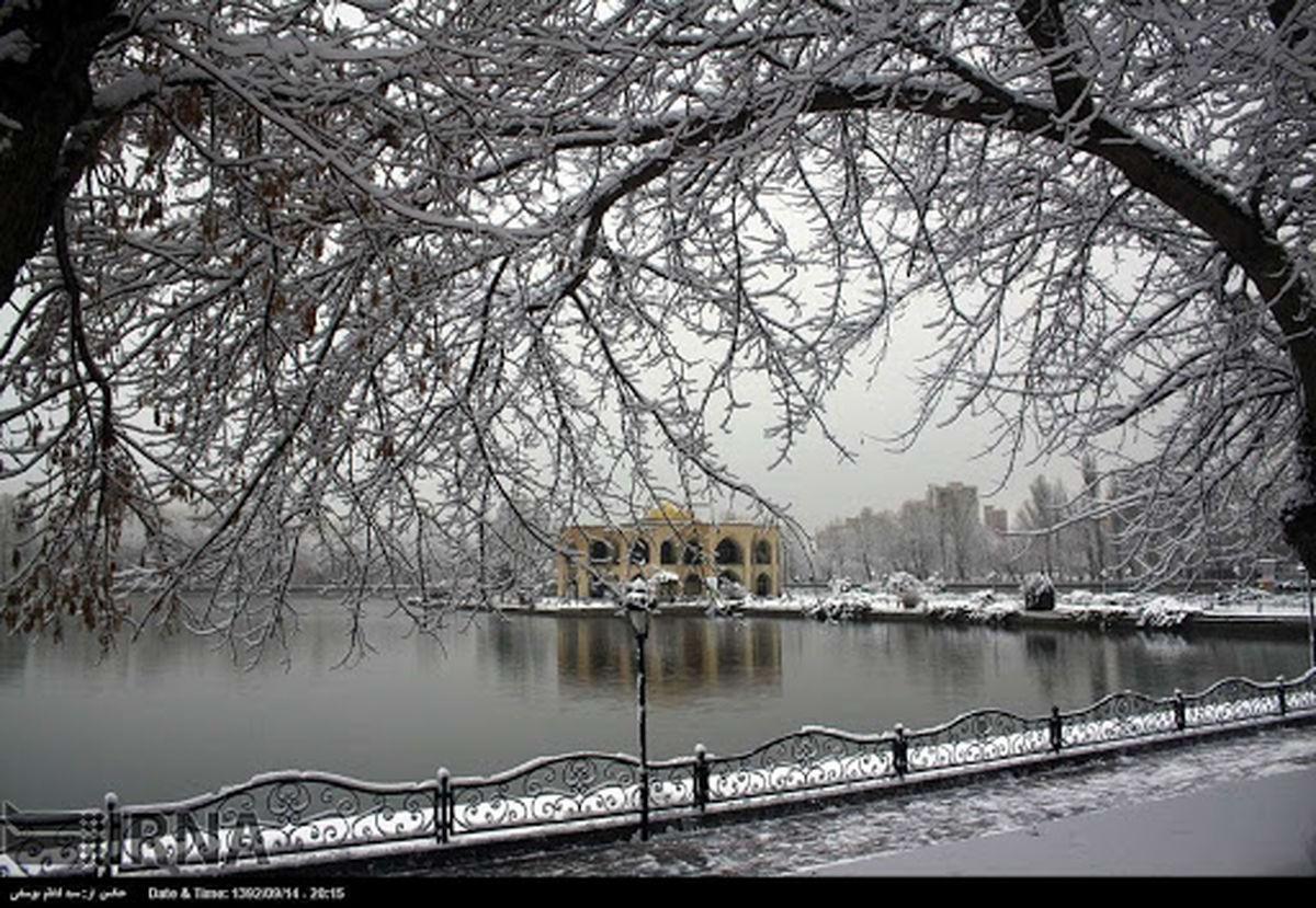 برف زیبا تبریز را سفید پوش کرد + تصاویر
