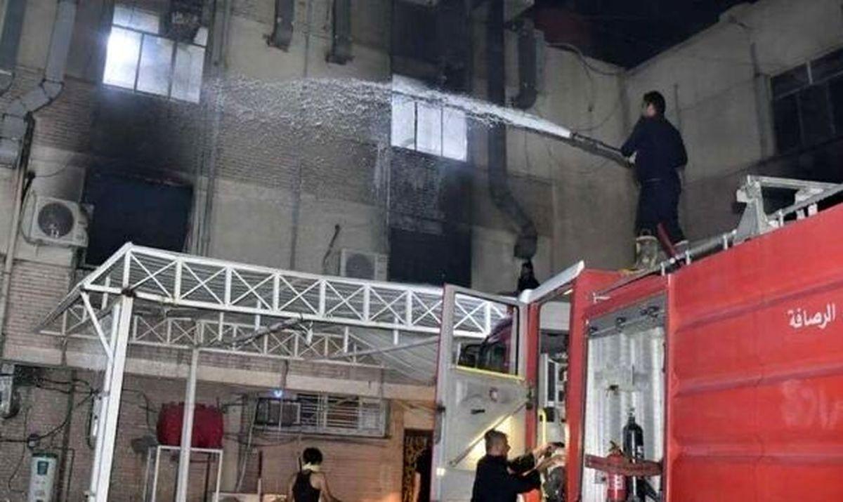 لحظه وحشتناک انفجار بیمارستان بغداد/چند نفر کشته شدند؟+فیلم لو رفته