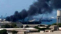انفجار در نزدیکی فرودگاه / فیلم لحظه انفجار