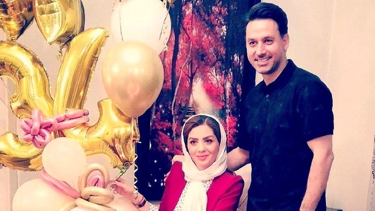 جشن تولد فوق لاکچری مجری معروف برای همسرش