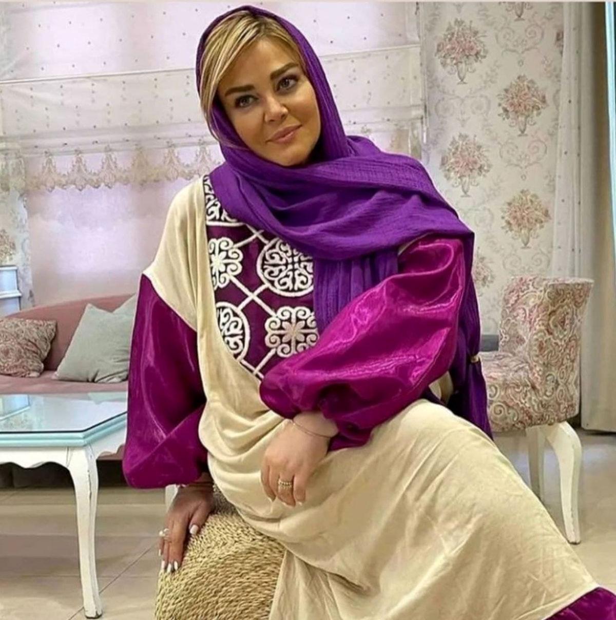 فخر فروشی بهاره رهنما با لباس گرانقیمت عربی+عکس