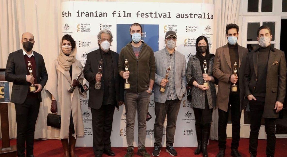 محسن تنابنده در قسم/ لحظه دیدنی دریافت جایزه جشنواره فیلمهای ایرانی استرالیا+فیلم