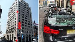 خودکشی یک جوان از ساختمان بلند/ ماشین لاکچری له شد+عکس