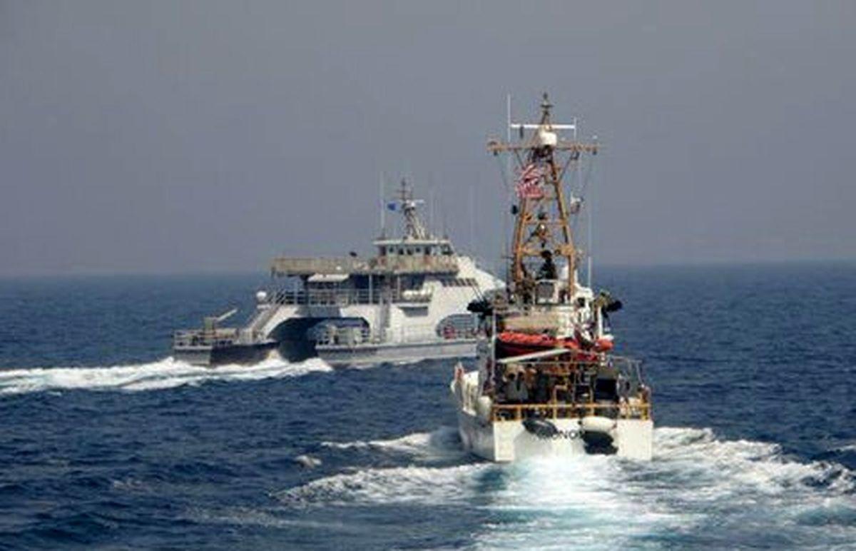 درگیری نیروی دریایی آمریکا با ناو سپاه+فیلم دیده نشده