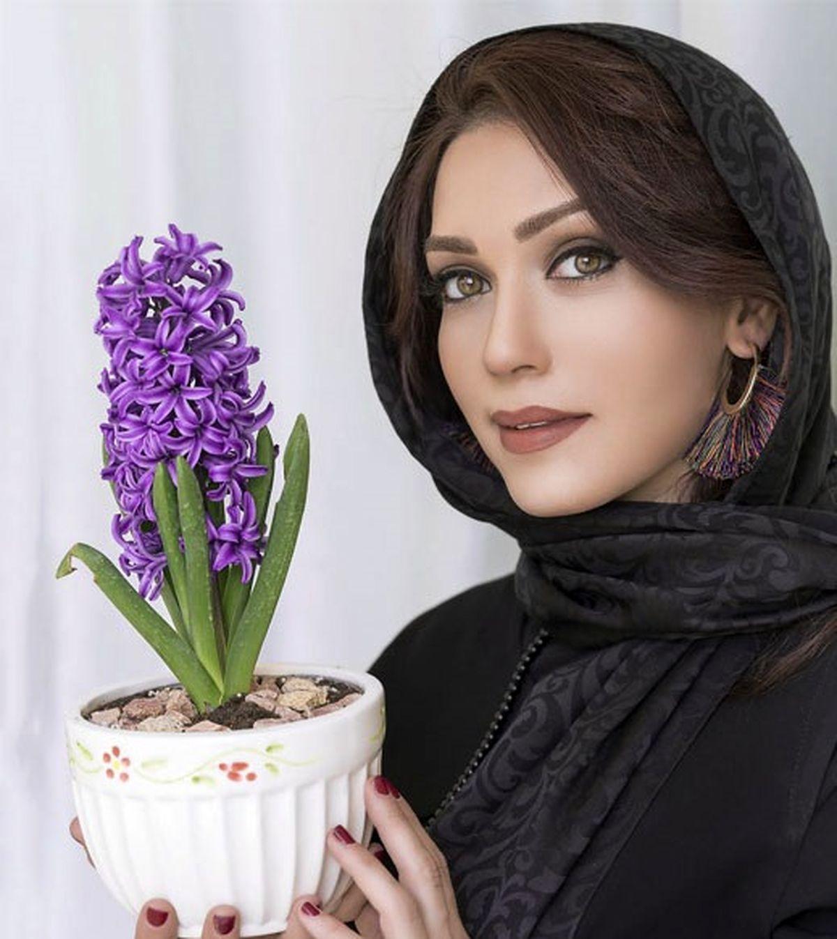 شهرزاد کمال زاده با کلاه وایکینگ ها + عکس